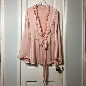 Authentic Vintage 50s silk blouse sz M